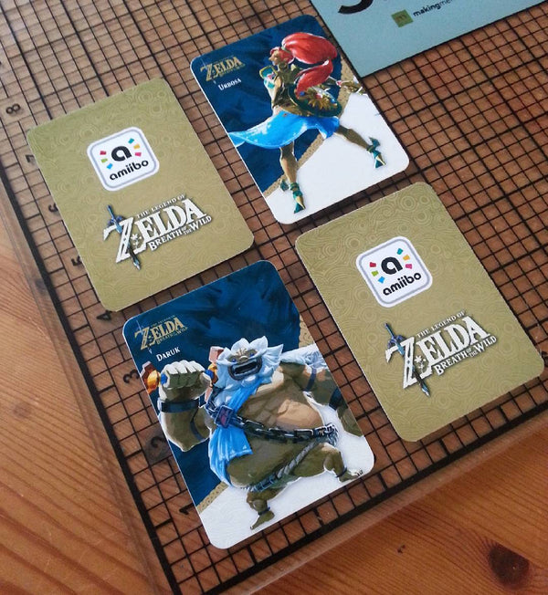 the legend of zelda botw custom amiibo cards