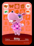 22 Bitty amiibo card