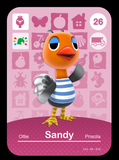 26 sandy amiibo card