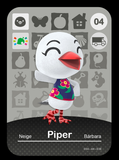 04 piper amiibo card