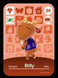 20 billy amiibo card
