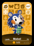207 mabel amiibo card