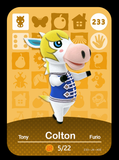 233 colton amiibo card