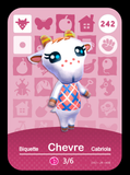 242 chevre amiibo card