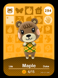 294 maple amiibo card
