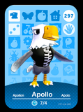 297 apollo amiibo card