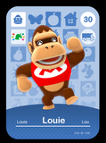 30 louie amiibo card