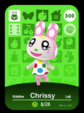 300 chrissy amiibo card