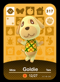 317 goldie amiibo card