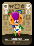 318 stitches amiibo card