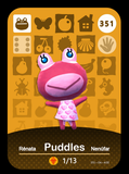 351 puddles amiibo card