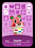 359 apple amiibo card
