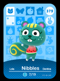 379 nibbles amiibo card