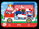 Rilla animal crossing amiibo card