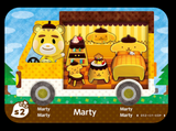 marty animal crossing amiibo card