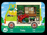 toby animal crossing amiibo card