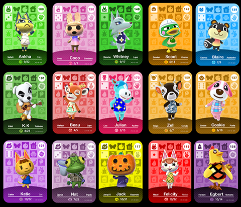 Full Set of Animal Crossing Series 2 Amiibo Cards - Custom Made
