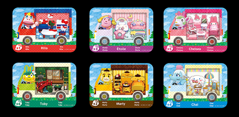 Animal Crossing: New Leaf + Sanrio amiibo Cards 6 Pack or Singles