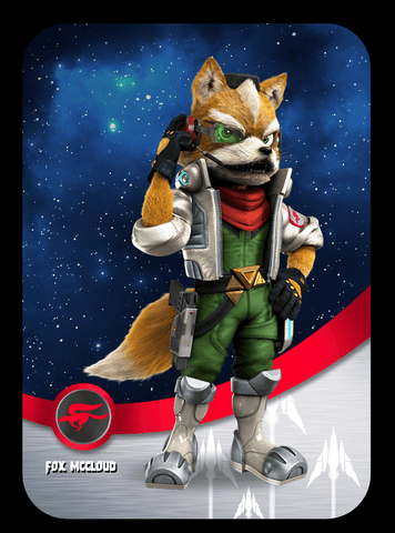 custom fox ssb amiibo cards