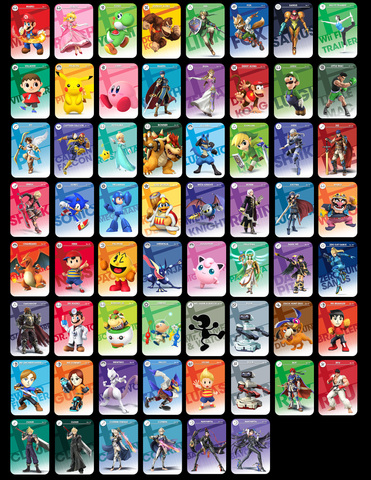 Full set of SSB Amiibo cards