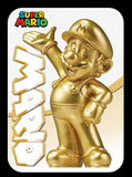 Super mario gold amiibo card