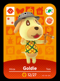 goldie animal crossing festival amiibo card