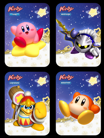 Kirby Amiibo Cards - Full set of 4 or Singles