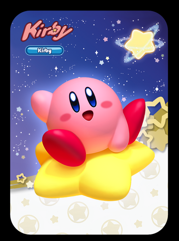 kirby amiibo card