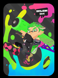 inkling boy neon green amiibo card splatoon