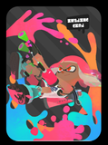 splatoon girl neon pink amiibo card