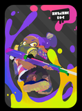 splatoon inkling boy violet amiibo card