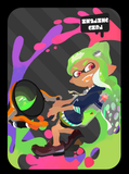 inkling girl green amiibo card