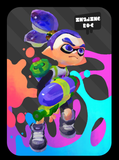 splatoon inkling boy blue amiibo card