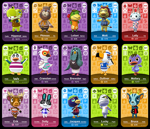 Full Set of Animal Crossing Series 4 Amiibo Cards - Custom Made