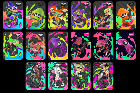 custom splatoon 2 splatoon amiibo cards full set of 16