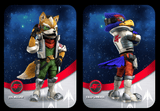 custom made ssb starfox amiibo cards