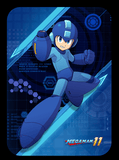 custom megaman amiibo card