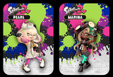custom splatoon 2 peral and marina amiibo card