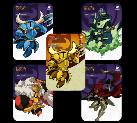 shovel knight amiibo cards