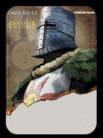 dark souls solaire of astora amiibo card