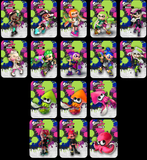 Splatoon 1 and 2 full set of custom amiibo cards