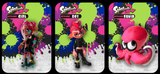 3 Pack Octoling amiibo cards