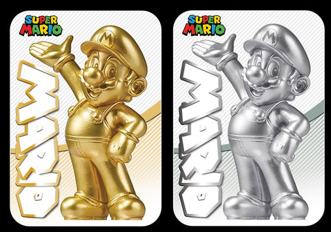 super mario gold and silver amiibo cards