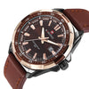 NAVIFORCE  Waterproof Leather Quartz Watch - Onaap