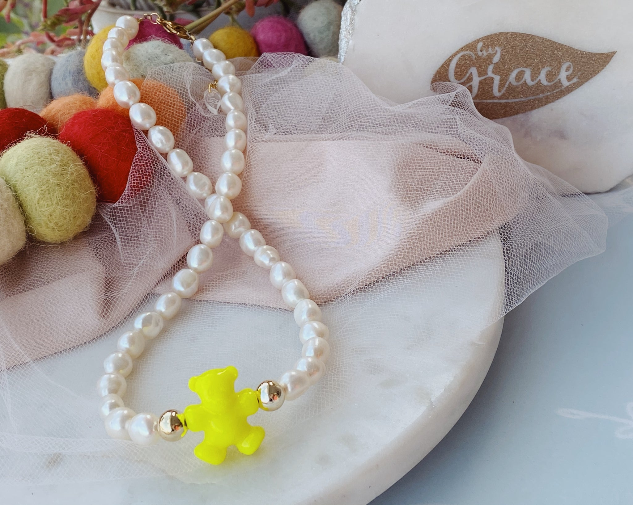 Teddy pearl necklace