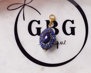 Vintage crystal drop charm