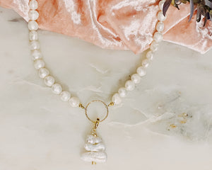 Evelyn pearl necklace