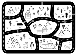 Mountain Roads Play Mat - White - Lilli May Collections