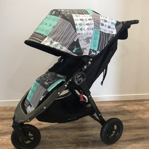 Custom Baby Jogger City Mini GT hood & liner