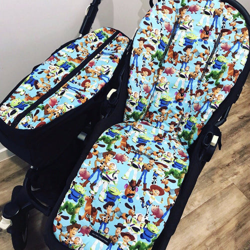 Custom Bugaboo Donkey Pram Liner & Side Basket Set
